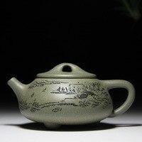 Landscape stone tea pot 180cc capacity original mine mud Yixing genuine teapot