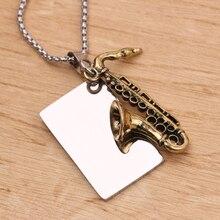 Saxophone Charm Necklace