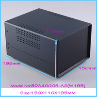 1 150x110x195 Mm Diy Cabinet Iron Electrical Junction Box Project Box Pcb Steel Enclosure Electronic