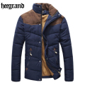 HEE GRAND 2017 New Winter Jacket Men Patchwork Warm Cotton-padded Casual Parka Fashion Chaqueta Hombre Plus Size MWM169