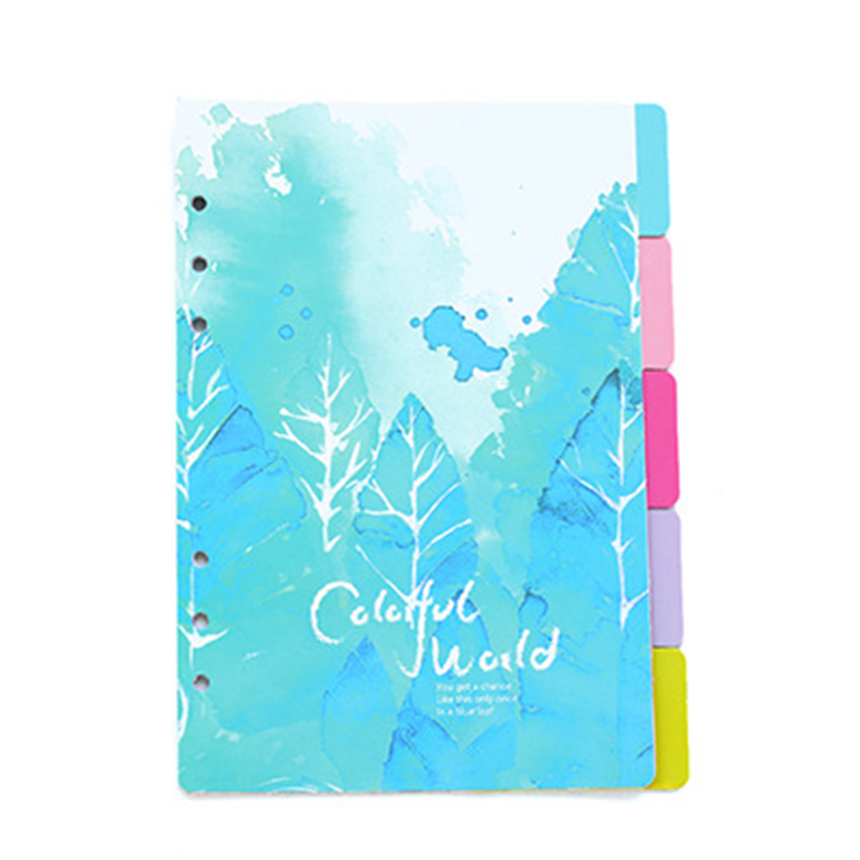 A5 A6 5sheet Flower Colored Delicate Art Paper Planner Index Page Beautiful Retro Planner Inner Slip Sheet Binder Category Paper Multan
