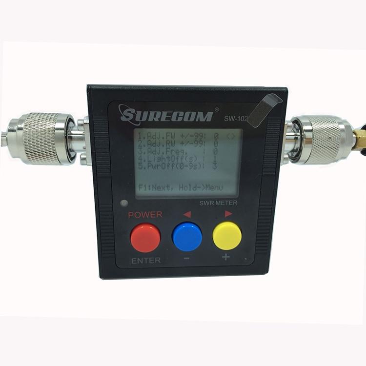 VSWR 1.00 19.9 Digital VHF UHF 125 525mhz SURECOM SW 102 With 2pcs RF Adaptor Baofeng Radio Walkie Talkie Power SWR Meter 120W-in Walkie Talkie from Cellphones & Telecommunications    3