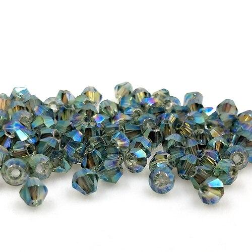 Новинка 5301 4 мм 1000 шт стеклянные кристаллы бусины биконус граненый свободный разделитель бисер бусины Fantas AB DIY Изготовление ювелирных изделий U выбор цвета - Цвет: 212