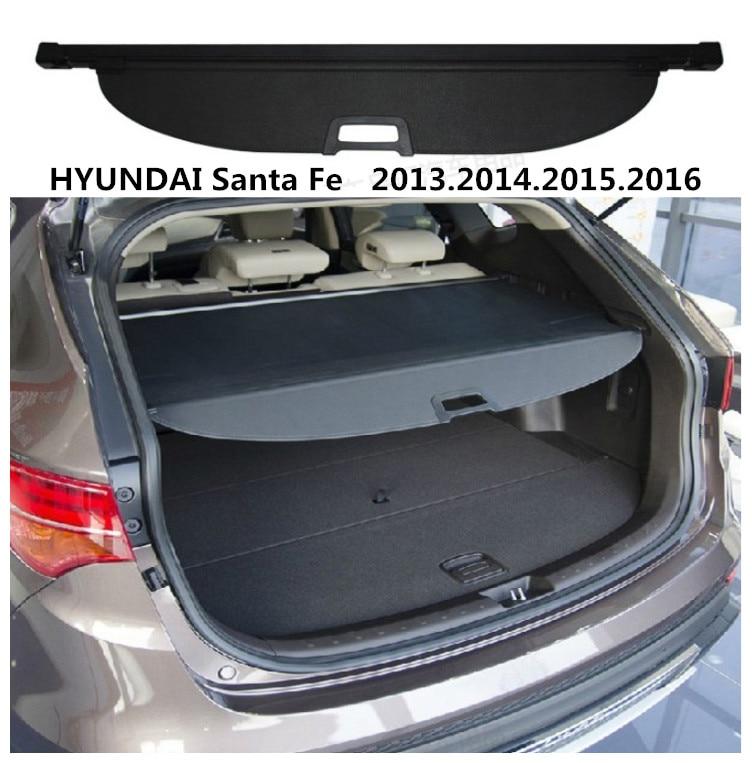 For HYUNDAI Santa Fe 2013 2014 2015 2016 Rear Trunk Cargo Cover Security Shield Screen Shade High Qualit Car Accessories