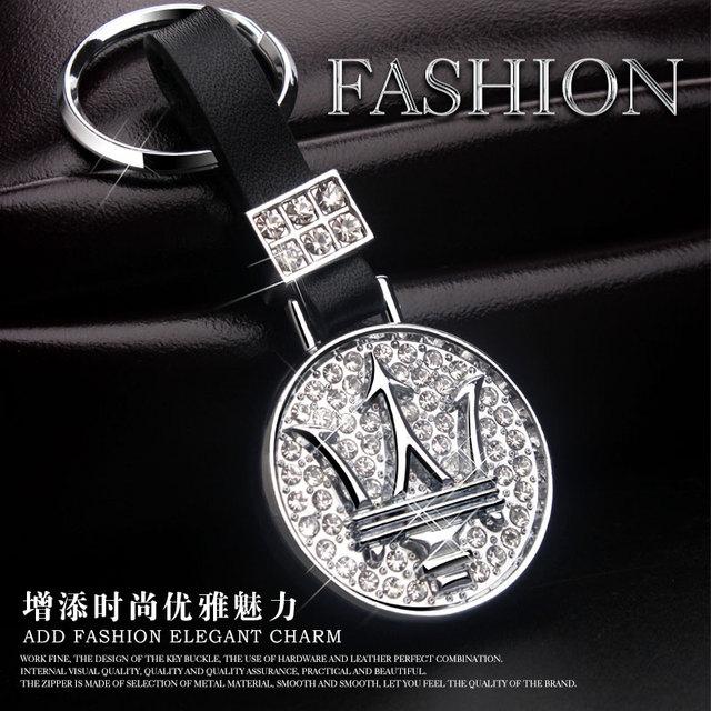 Автомобиль брелок кожа Ghibli Президент Лахти Maserati GT высокой gradediamond цепь украшения кольцо кулон брелок