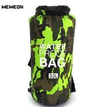 5/10/20/30L Outdoor Waterproof PVC Diving Rafting Dry Bag Folding Swimming Storage Shoulder Backpack for Camping River Trekking недорого