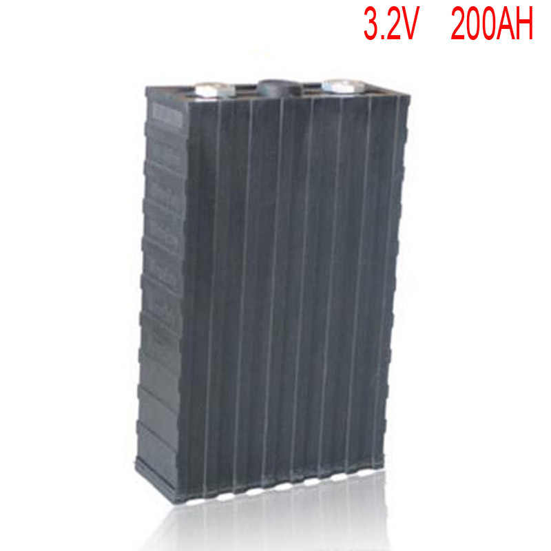 8pcs/lot Rechargeable 3.2V 200Ah Lithium ion LiFePO4 Battery model Batteries for EV/UPS/BMS/Power storage/solar power system