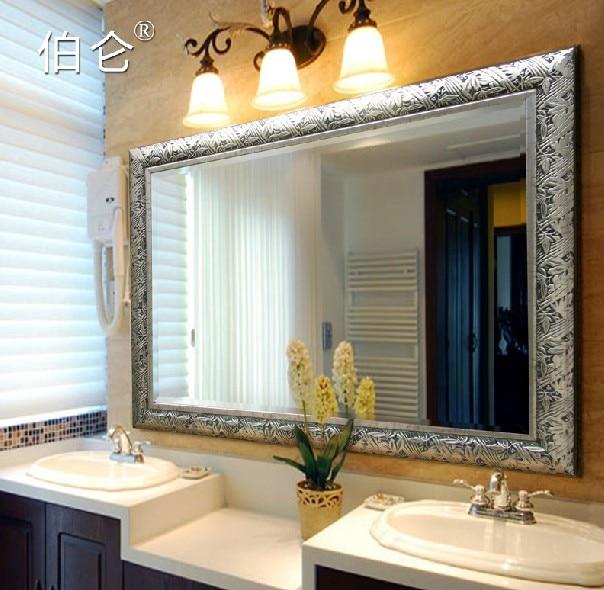 Color Antique Bathroom Mirror Decorate