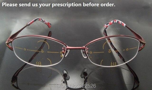 ee99a6ddc5 Alta calidad mujeres presbicia Multi-focal Freeform progresiva gafas, Marco  + freeform lentes progresivas