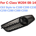 ABS Chromed Grill New suitable for AMG styleGrills For MERC EDESC-class C180 C200 C260 W204 2008-2014 Front Mesh Grill All Black