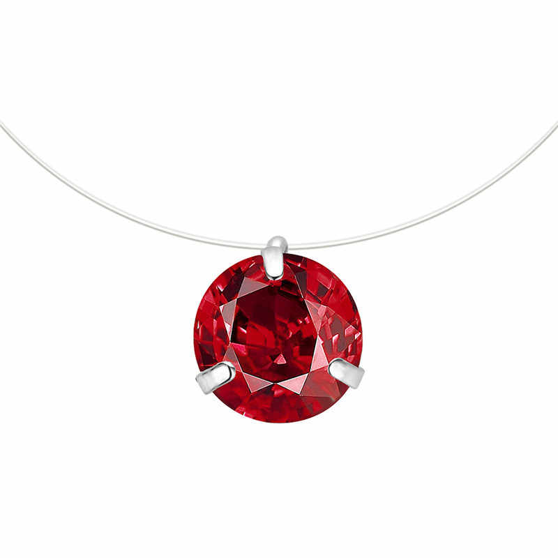 FUNIQUE 2019 Necklace Women Invisible Rhinestones Transparent Fishing Line Chain Pendant Necklaces Fashion Jewelry Collier Femme