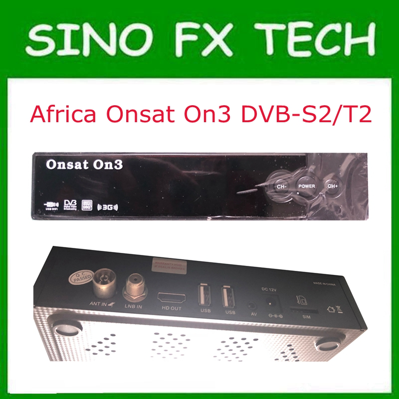 Onsat On3 DVB-S2/T2 Combo mepg4 gprs powervu autoroll decoder with Tcam code open 16E MYTV& 22W channels Onsat3 with wifi