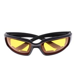 Image 4 - 3 Pair PVC Retro Motorcycle Windproof Padded Foam Riding Glasses UV400 lenses Motobike Men Eyewear Yellow Clear Smoke