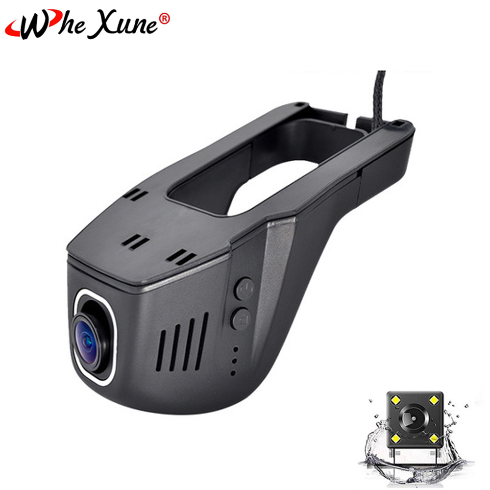WHEXUNE Novatek Dual Lens Car DVR Camera Full HD 1080P Video Driving Recorder Smart WiFi G-Sensor Dash Cam Parking Monitoring