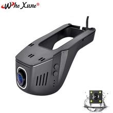 WHEXUNE Novatek Dual Lens Macchina Fotografica Dell'automobile DVR Full HD 1080 P Video Registratore di Guida di Smart WiFi G-Sensor Dash cam di monitoraggio di Parcheggio
