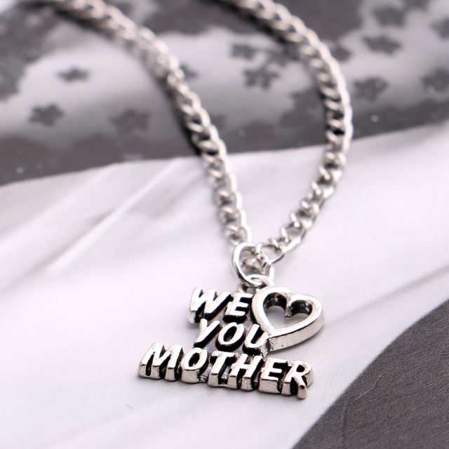 Heart We Love You Mother Letter Pendant Necklace For Mothers Gifts ...