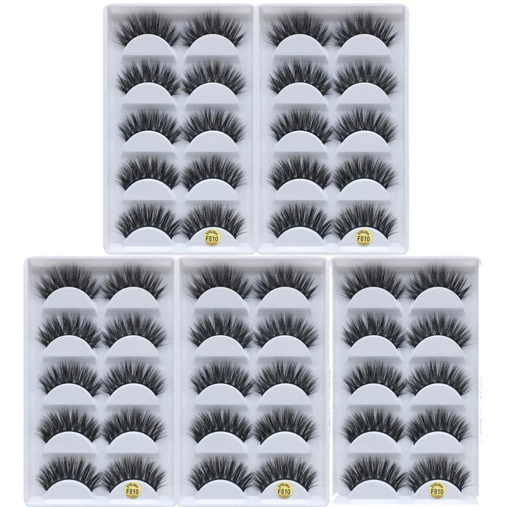 25 Pairs Mink Eyelashes Wholesale 3D Natural False Eyelashes 3d Mink Lashes Soft Fake Eyelashes Extension Makeup Kit Cilios G800