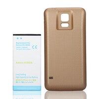 Batería de alta calidad de 7000mAh de capacidad Real para Samsung Galaxy S5 S 5 GT i9600 SM G900F G900FD, carcasa trasera dorada