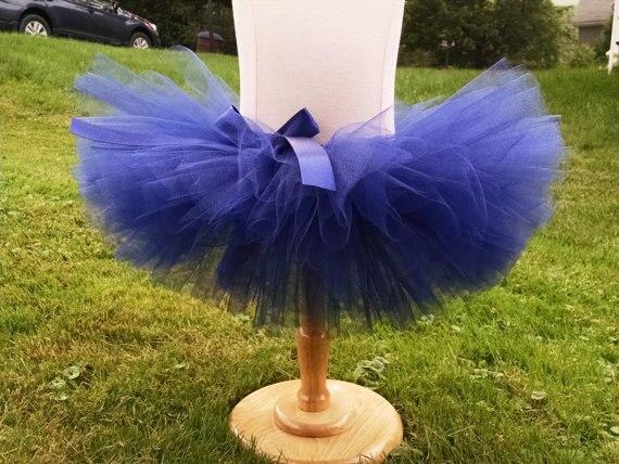 Sevimli Qızlar Mavi Crochet Tutu Etekləri Uşaq Dəbli Tulle Balet - Uşaq geyimləri - Fotoqrafiya 3