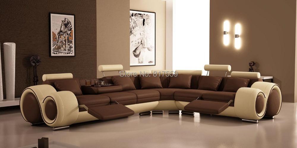 Sofá De Couro Moderno Para Venda. Specific Use: Living Room ... Part 53