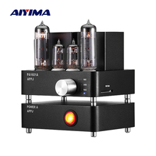 AIYIMA WiFi Tube Amplifier PA1601A 6J1 6P14 Vacuum Tube HiFi Stereo Home Power Amplifiers Professional SD USB AUX Audio AMP nobsound ms 50d class a el34 vacuum tube amplifier stereo power amp with bluetooth