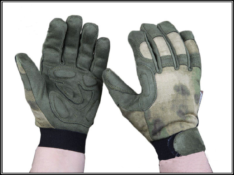 Full-finger ligth assault gloves ATFG camo special operations patrol gloves tactical