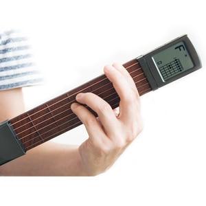 Image 4 - סולו נייד גיטרה אקורד מאמן כיס בפועל גיטרה כלים LCD מוסיקלי כלי מיתר אקורד מאמן כלים למתחילים