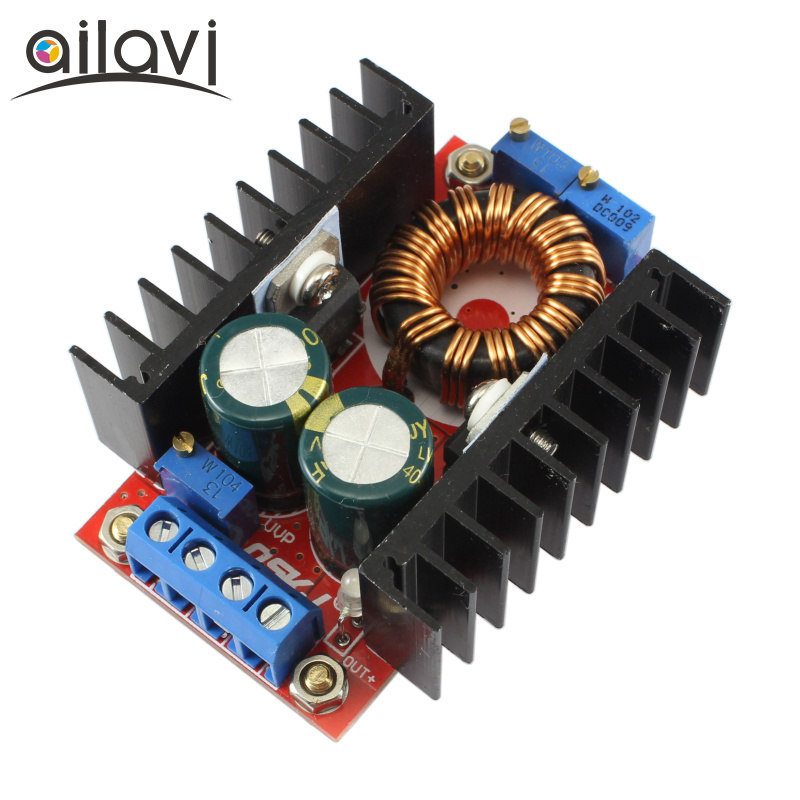 DC-DC Power Boost Module 10-32V Up to 12V-35V 150W Constant-current constant-voltage LED Driver Charging Power Supply Converter qs 1212cba 150w dc dc auto boost buck converter 6 32v to 0 8 28v 150w 15a power supply