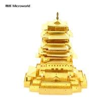 Microworld Metal 3D Lou Yue Wang Edifício Kits Modelo de Montagem do Enigma Brinquedos Educativos Presentes Coleções de Adultos Brinquedos Provocação de Cérebro