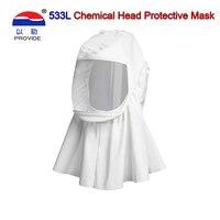 Fornecer 533l máscara de respiração cremoso-branco xale conforto seção antivírus máscara completa spray pintura máscara de prevenção de saúde