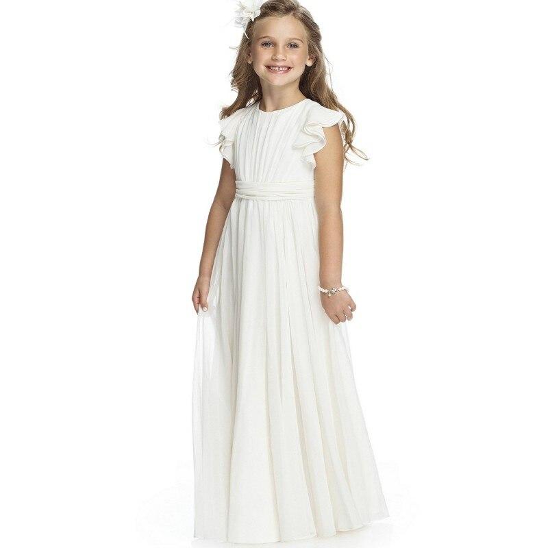 White Long Dresses for Girls