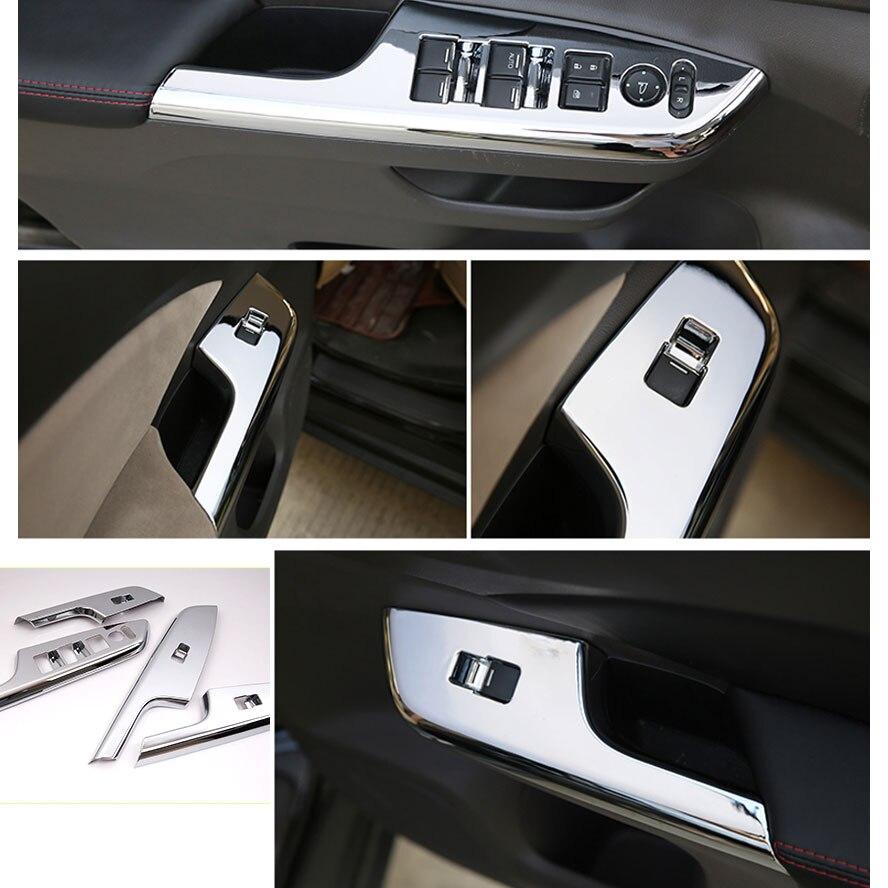 4pcs/set ABS Inner Door Window Switch Button Panel Handle Cover Trim Frame Decoration Fits For Honda CRV CR-V 2013-2015 ветровик rein для honda cr v iii 2006 2012 кроссовер на накладной скотч 3м 4 шт