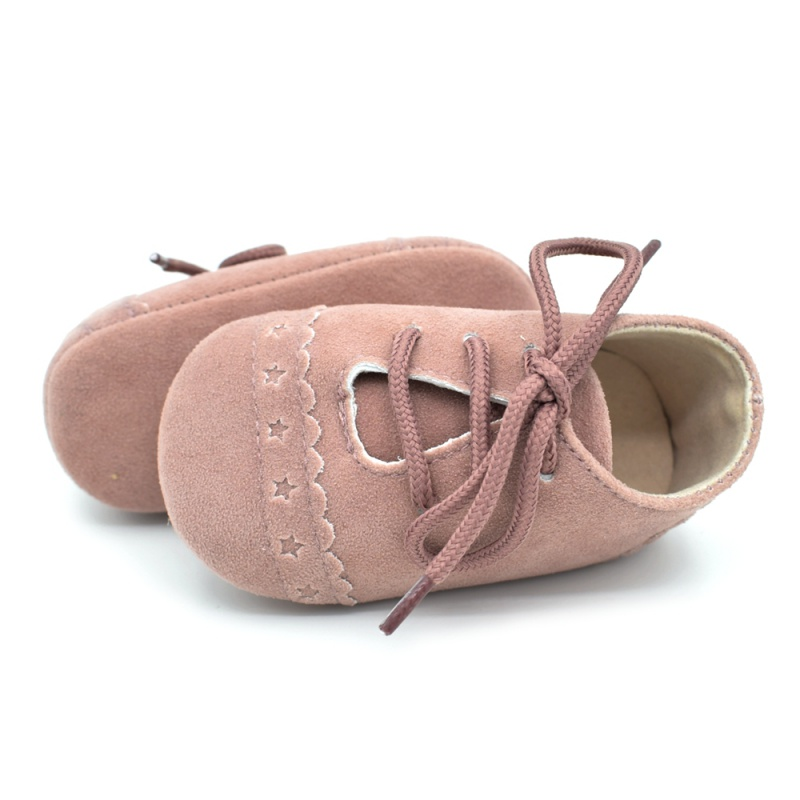 Infant Baby Girls Boys Spring Lace Up Soft Leather Shoes Toddler Sneaker Non-slip Shoes Casual Prewalker Baby Shoes 23
