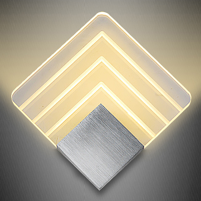 Modern Acrylic wall light led Sconce Lighting Wall Mounted Bedside indoor Decoration Light Creative Wall lamp Living Room Foyer 3 narrow beam indoor wall effect light led architectural facade lighting 3 emission led wall sconce ac90 260v input decoration