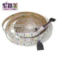 5 M/rollo DC12V 60 leds/m SMD5050 Color mezclado RGBW RGB + (blanco cálido/frío) RGBWW RGBCW tira de LED 5pin IP30/IP65/IP67 300 LEDs/rollo