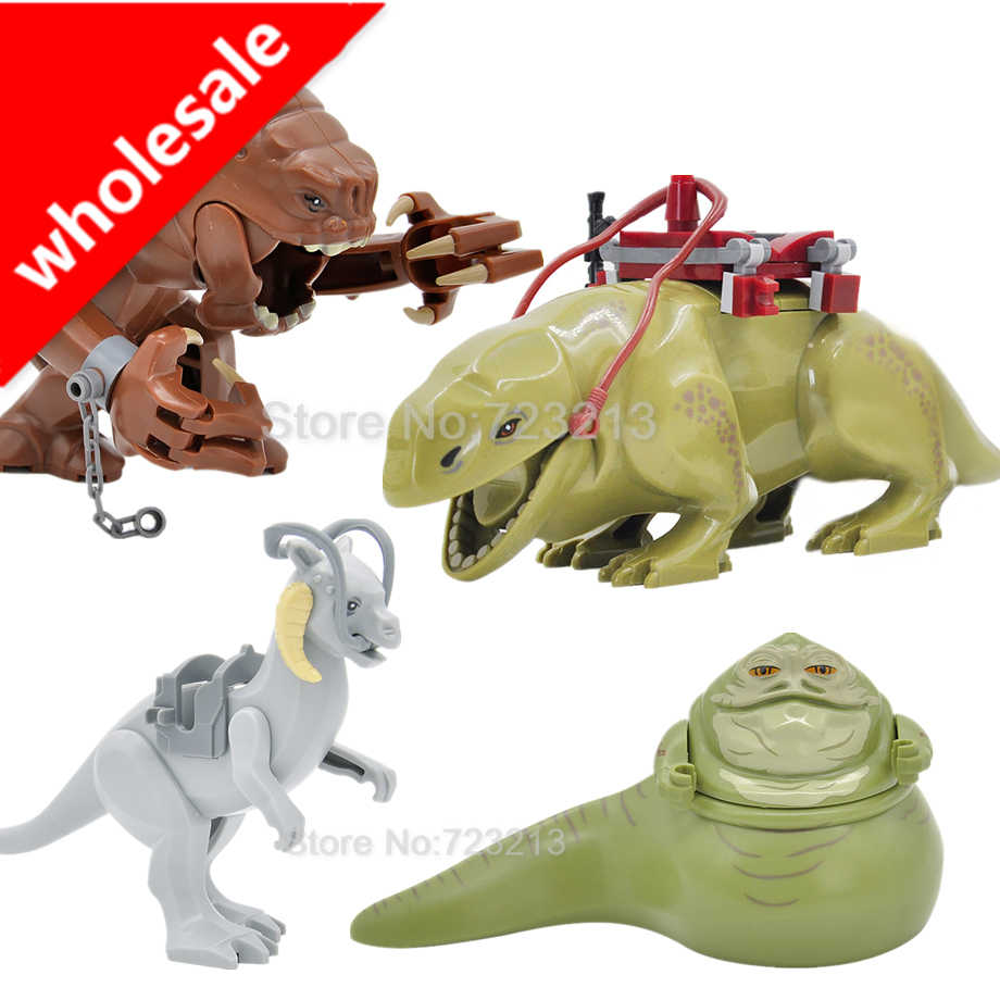 Groothandel 10 Stks/partij Legoings Hot Dewback Jabba Rancor Animal Figuur Bouwstenen Set Modellen Kids Diy Model Bricks Speelgoed