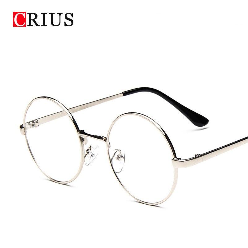 H nouvelle femmes de lunettes cadre En Métal alliages lunettes ronde optique  cadre clair lunettes lunettes de vue de haute qualité d27e2bd28e20