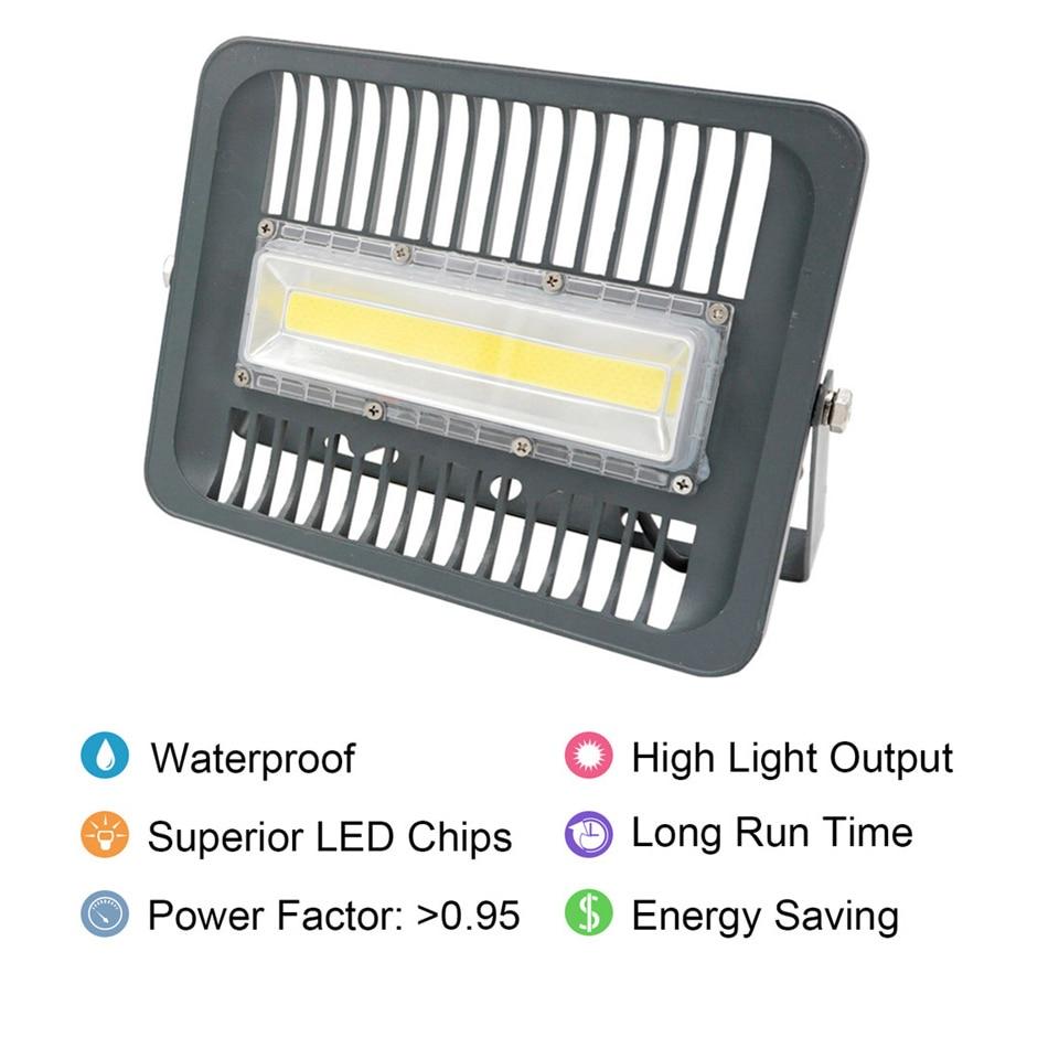 LED Flood Light Projector 30W 50W 70W 100W 220V 230V IP66 WaterProof LED FloodLight Spotlight Outdoor Wall Lamp LED COB Chip