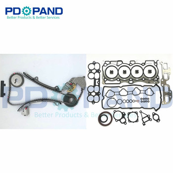 Timing Chain Kit Complete Gasket Set for Nissan SERENA ALTIMA/SENTRA/X-TRAIL/PRIMERA 2.0 QR20DE