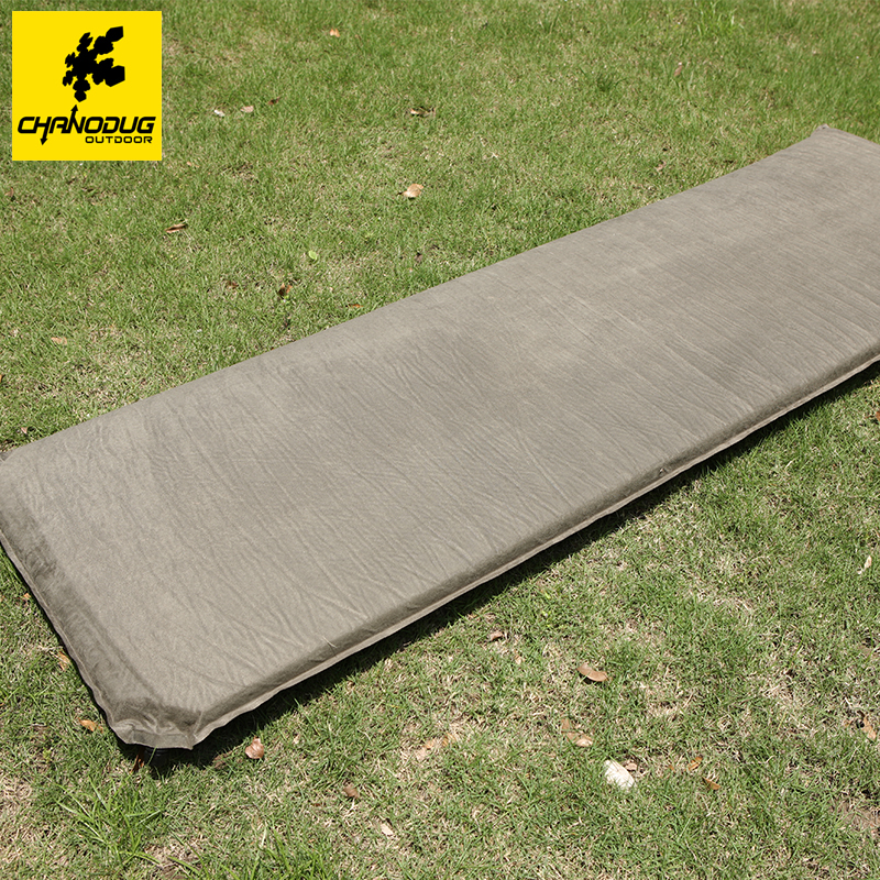 ФОТО Chanodug Automatic Inflatable Air Mat  2*0.6M  Faux Suede Camping Hiking Mat Outdoor Leisure Mat Sleeping Pad