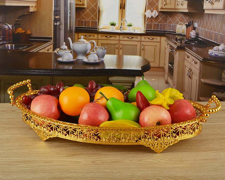 how to cut a round fruit wedding cake gold plated metal severing trays design fruit plates 15620
