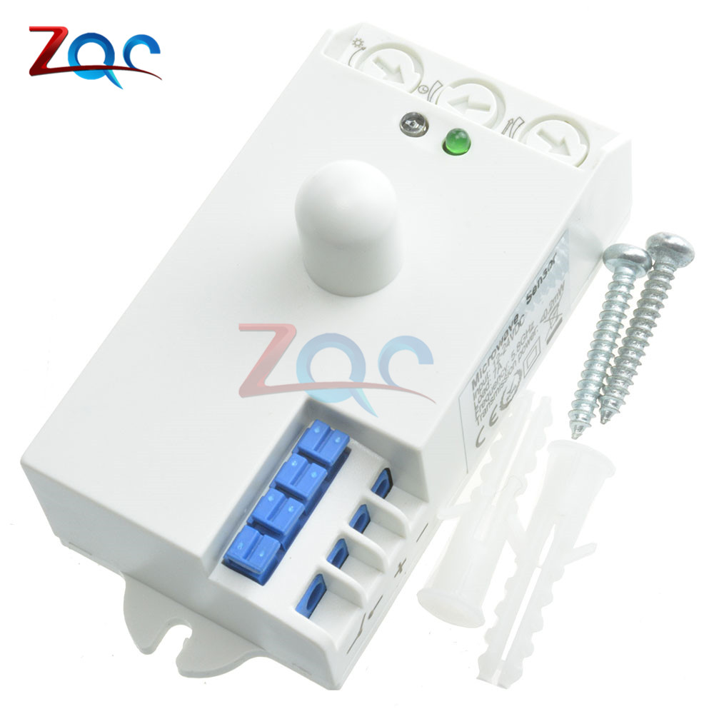 DC 12V-24V 5.8GHz Microwave Radar Sensor Body Motion sensor HF Detector Light Switch Indoor 85x38x40mm Best quality