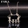 Mãe de aço inoxidável colar pingente colares mãe dos miúdos das meninas dos meninos prata aço inoxidável cadeia choker colares mulheres n67128