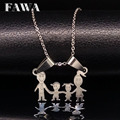 MAMA Stainless Steel Necklace Boys Girls Pendant Necklaces Mom Kids Silver Chain Choker Stainless Steel Neckless Women N67128