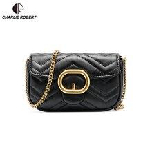 цена на 2019 New High Quality Leather Elegent Luxury Design Solid Shoulder Bag Metal Hasp Summer Fashion Style Crossbody Bags