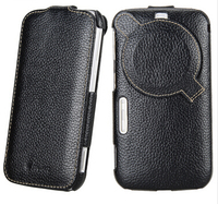 High Quality Genuine Leather Cover For Samsung Galaxy K Zoom C1116 C1158 Vertical Case Protective Cover