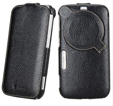 bilder für Hohe Qualität Echtes Leder-abdeckung Für Samsung Galaxy K Zoom C1116 C1158 Vertikale Fall schutzhülle Mit displayschutzfolie