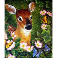 Diamant Diy 3D Diamond Painting Cross Stitch Deer In The Bush Needlework Embroidery Full Decorative Stickers Kit