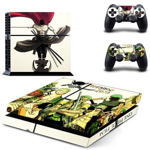 Image 2 - Anime One Piece Luffy PS4 Skin Sticker Decal Vinyl for Sony Playstation 4 Console and 2 Controllers PS4 Skin Sticker