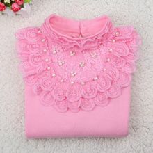 Kids Baby Shirts Bow Blouse Long Sleeve